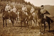 WWI Real Photo German Postcard - German Cavalry Officers (hand dated) 16 IX 14