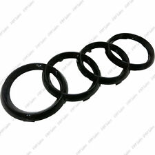 Black Gloss Front Grille Badge Rings Logo Audi a1 a3 a4 a5 a6 7 s3 quattro sline