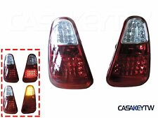 01-04 MINI COOPER R50 R52 R53 JCW RED CLEAR JDM LED TAIL LIGHTS REAR LAMPS