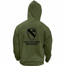 US Army 1st Cavalry Division Veteran Subdued Pullover Hoodie