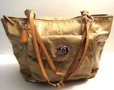 Coach F14662 Embossed Patent Leather Diaper Tote Shoulder Purse Bag W/Charm Tag
