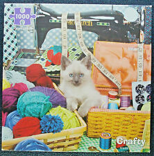 jigsaw puzzle 1000 pcs Crafty Kitten sewing notions yarn Re-marks