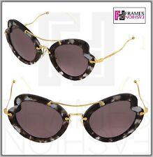 MIU MIU SCENIQUE Butterfly 11R Lilac Havana Purple Gold Sunglasses MU11RS