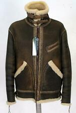 Men's Diesel Sheepskin Shearling Black Leather Jacket XL RRP £890 coat