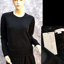 BURBERRY BRIT New sz S Cashmere Authentic Designer Womens Check Black Sweater