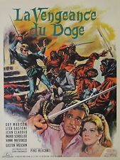 """LA VENGEANCE DU DOGE"" Affiche originale entoilée (Pino MERCANTI / Guy MADISON)"