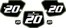 1996-2004 Kawasaki KX500 Custom Pre-Printed Black Backgrounds Green Pinstripe