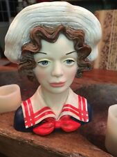 "Lady Head Vase Cameo Girls Eloise 1935 ""Seaside Sweetie"""