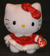 TY HELLO KITTY (CHRISTMAS DRESS) BEANIE BABY - MINT TAGS - NEW