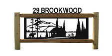 CABINS-RUSTIC LOG SIGN-LOG CABIN DECOR-OUTDOOR SIGNS-#CABIN 15405-2
