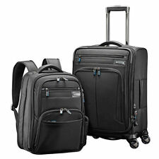 """Samsonite Premier 2 Piece Luggage 21"""" Spinner Carry-on Laptop Backpack Business"""