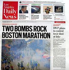 Boston Marathon Bombings Newspaper Los Angeles Daily News 4/16/2013 Terrorists