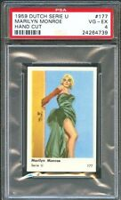 1959 Dutch Gum Card Serie U #177 MARILYN MONROE How To Marry A Millionaire PSA 4