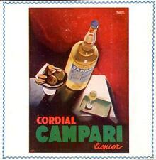 Pubblicità CAMPARI Nizzoli Anni 20 Advertising Reklame Werbung Publicitè old