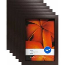 "Mainstays 5""x7"" Brown Linear Picture Frame 6-Set Lot Photo Home Wall Decor Wood"