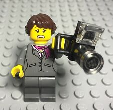 Lego New Dual Face Female Mini Figure,Professional Journalist Long Lens Camera