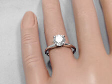 0.60ct Natural Genuine Diamond Solitaire Engagement Ring In Solid 14K White Gold
