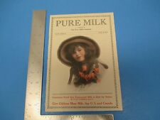 Vintage 1916 Pure Milk Magazine With Recipes By The Pure Milk Company M087