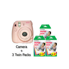 Fuji Instax mini 8 Instant Film Camera (Pink) +3 twin pack Film -60 Prints *NEW*
