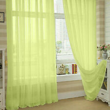 7 Colors Valances Floral Tulle Voile Door Window Curtain Drape Panel Sheer Green
