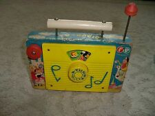 Vintage Fisher Price ~ The Farmer in the Dell TV-Radio ~ Music Box Antique 1963