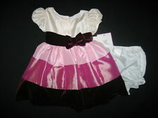 """NEW """"SHADES OF MAUVE"""" Satin Easter Dress Girls 12m Spring Summer Baby Clothes"""