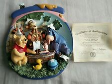 "Bradford Exchange 3D Plate Pooh's Honeypot Adventures ""A Tub of Fun"" boxed"