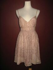 Emma Cook Susan Anthropologie M 6 100% silk pink nude spaghetti strap dress A5