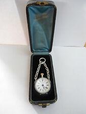 RARO Antico J & UN GRAND Geneve argento/Palla di vetro Orologio-Custodia originale