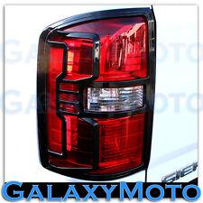 15-16 GMC Sierra 2500+3500+HD Truck Black Taillight Tail Light Trim Bezel Cover