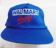 WALMART Trucker Style Adult Hat/Cap One Size Adjustable Snapback Blue Made USA