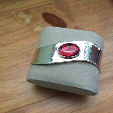 Dominique Dinouart DDD Artisan Crafted Sterling Red Abalone Cuff Bracelet,Large