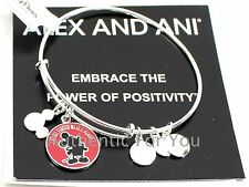 NEW Disney Parks ALEX AND ANI It All Started With A Mouse Silver Mickey Bracelet