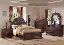 Queen Size Bedroom Set 4Pc Cherry Finish Bedroom Furniture Set Acme 21310Q