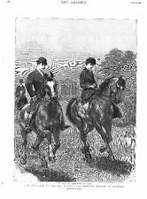 Marriage.Duc D'Aosta.Princess Helene. of Orleans.Side Saddle.Horse Riding 1895
