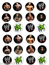24X EDIBLE CUPCAKE CAKE TOPPERS DECORATION BIRTHDAY WWE WRESTLING
