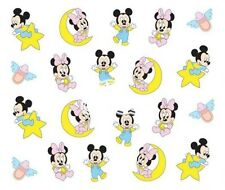 Nail Art Decals Transfers Stickers Baby Mickey Minnie Mouse (DA365)