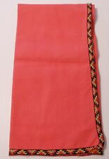 Vintage red tablecloth cotton