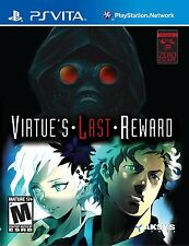 Zero Escape: Virtues Last Reward (Playstation Vita PSV Novel Escape Puzzles) NEW