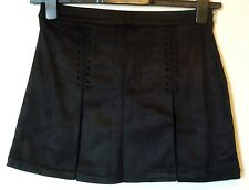 Forever 21 Twenty One Faux Suede Whip Stitch Skirt Size 8/10 Uk BNWT Black
