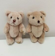 "Lot Jointed Wang's International Tan Baby Mini Teddy Bear Bears 5"" Crafts Rare"