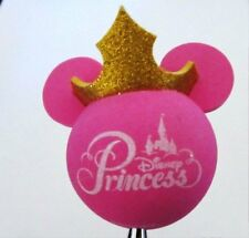 DISNEY Parks  Glittered Crown Princess  Mickey Ears  Antenna Topper  New