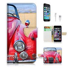 iPhone 7 (4.7') Flip Wallet Case Cover P1447 Vintage Car