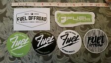 6 FUEL OFFROAD WHEELES STICKER LOT