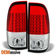 1997-2003 Ford F150 99-07 F250/350/450/550 Styleside Red Clear LED Tail Lights