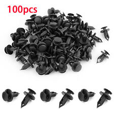 Car Auto Plastic Rivets 8mm Hole Dia Fastener Fender Bumper Push Pin Clips X 100