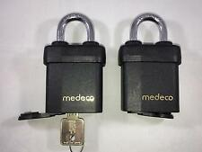 2 Medeco High Security Padlocks with 1 NEW M3 Core and key Lock Picker Picking