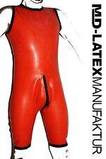 "MD-Latex - ""Orange Body"" 1,2mm Gr. M - Latexanzug Latex Rubber Latexoverall"