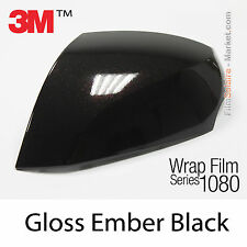 10x20cm FILM Gloss Ember Black 3M 1080 GP282 Vinyle COVERING Series Wrap