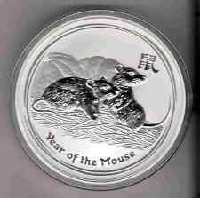 2008 Mouse AUSTRALIAN LUNAR YEAR OF Mouse 2 oz. SILVER COIN YEAR OF Rat maus